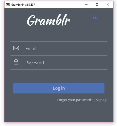دانلود gramblr برای کامپیوتر